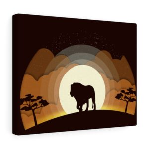 Into the Wild: Lion – Canvas Print