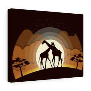 Into the Wild: Giraffes – Canvas Print