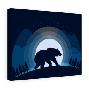 Into the Wild: Bear – Canvas Print