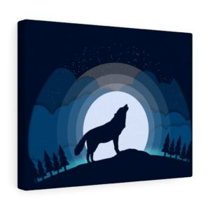 Into the Wild: Wolf – Canvas Print