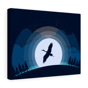 Into the Wild: Heron – Canvas Print