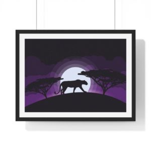 Into the Wild:Panther – Premium Framed Poster